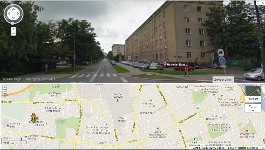Mapka_Dom Studencki Ustronie